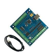 CNC MACH3 USB 4 оси 100 кГц USB ЧПУ Гладкий шагового движения Управление Лер карты breakout Управление доска для DIY Мини гравировальный Маха