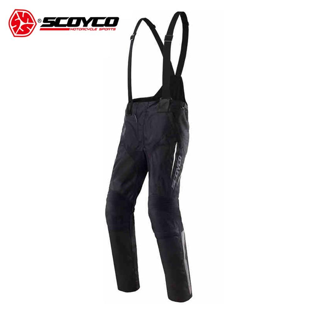 SCOYCO Motorcycle Pants Moto Men's Motocross Pants Off-Road Racing Pants with CE Kneepad Moto Pants Suspender Trousers scoyco mens motorcycle pants racing trousers winter summer p028