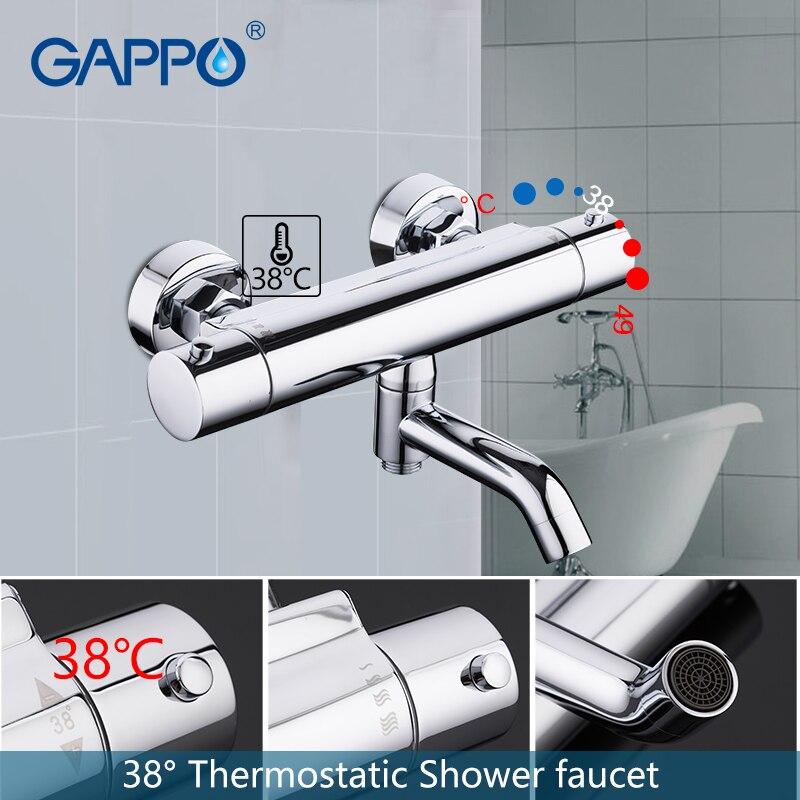 GAPPO dusche wasserhahn bad dusche mixer wasserhahn bad mischer Wasserfall thermostat dusche wasserhahn set bad wasserhähne dusche system