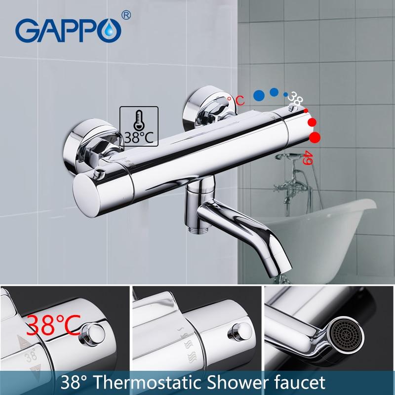 GAPPO ก๊อกน้ำห้องน้ำฝักบัวก๊อกน้ำ bath ผสมน้ำตก thermostatic ก๊อกน้ำชุดก๊อกน้ำอาบน้ำระบบ-ใน ก๊อกน้ำอาบน้ำ จาก การปรับปรุงบ้าน บน AliExpress - 11.11_สิบเอ็ด สิบเอ็ดวันคนโสด 1