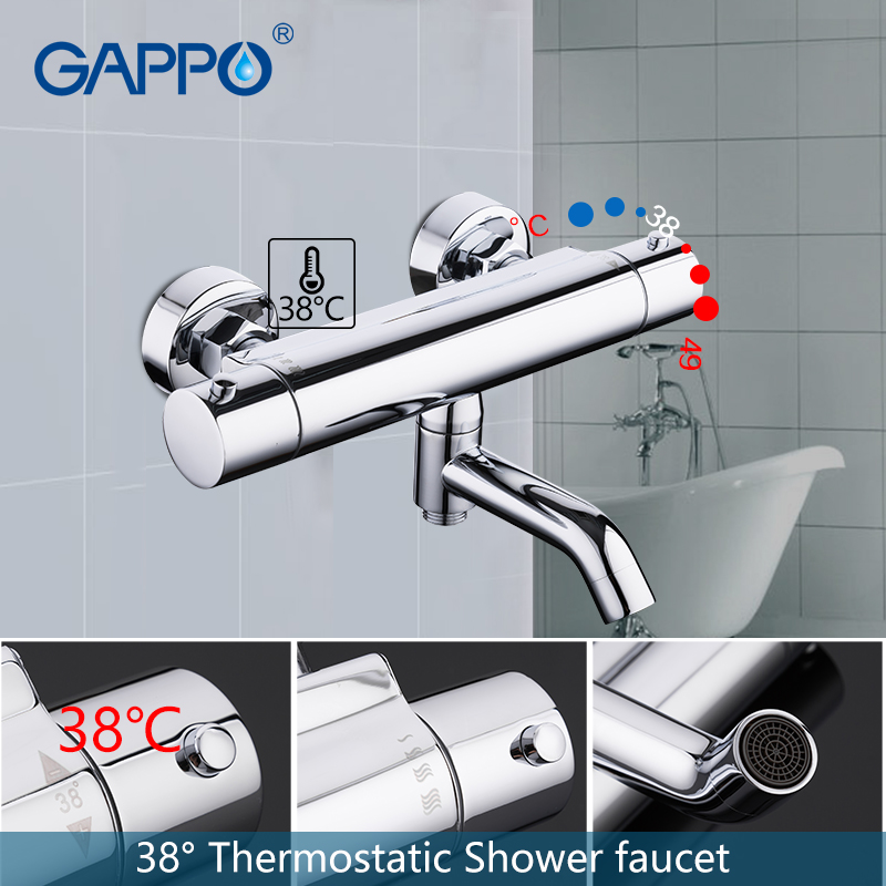 купить GAPPO shower faucet bathroom mixer shower faucet bath mixer Waterfall thermostatic shower faucet set taps bath shower system по цене 3996.89 рублей