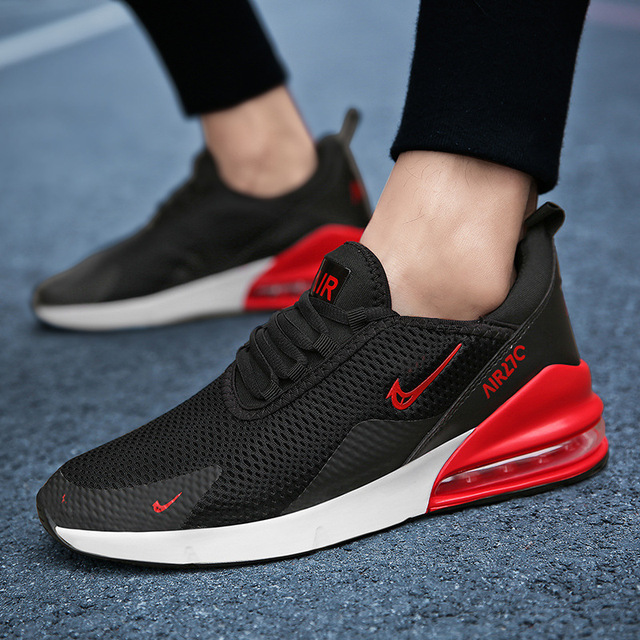 2019 Man Fashion AIR  Sports Shoes Summer Sneakers Lace-up Air Cushion Casual Breathable Walking Shoes Outdoor Running Shoe