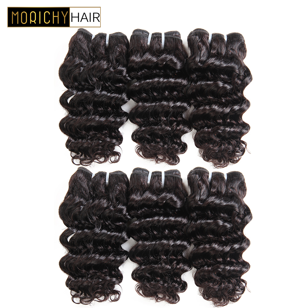 MORICHY Brazilian Loose Deep Wave 6 Bundles 50/pcs Brazilian Hair Weave Bundles Loose Deep Wave Curl Remy Human Hair Extension