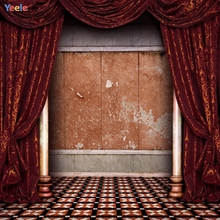 Yeele Vintage Wooden Wall Gorgeous Curtain Photography Backgrounds Personalize Photographic Backdrops Photocall For Photo Studio