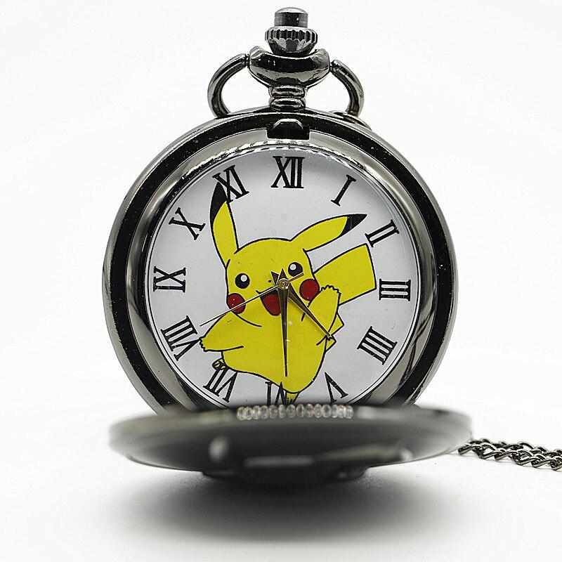 Big-Size-Pikachu-Black-Quartz-Pocket-Watch-Mens-Womens-Necklace-Pendant-Analog-Watch-Gift-Kids-Toy