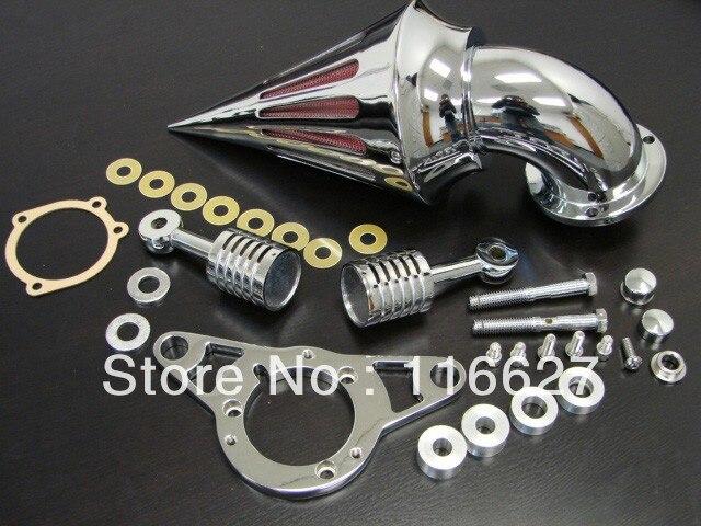 Бесплатная доставка хром Спайк воздушного фильтра для Harley EFI с двумя верхними распредвалами СОФТЕЙЛА dyna с посещением 2001-2009