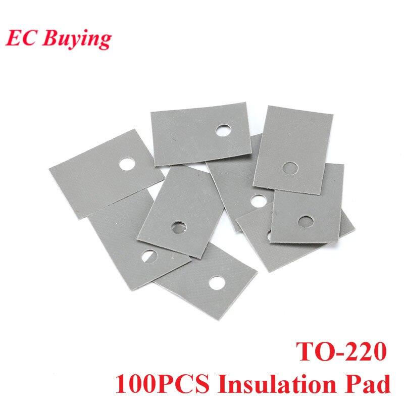 100PCS TO-220 Insulation Pad Silicone Heatsink Shim Transistor Silicone Insulation Film