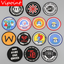 VIPOINT embroidery printed warning patches letter alphabet badges applique for clothing YM-51