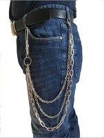 NEW 59CM Basic Simple Strong Biker Trucker Motorcycle Pants Key Jean Long Wallet Chain Punk In