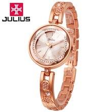 Юлий леди женщина наручные часы кварцевых часов лучший мода платье ретро цветные корея браслет группа рождество девушка подарок JA-624