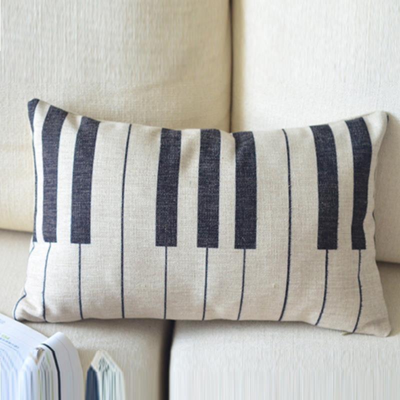 Vintage cartoon pillows decorate,piano cushion cover,burlap sofa cover/pillow cover 30cm*50cm cushion