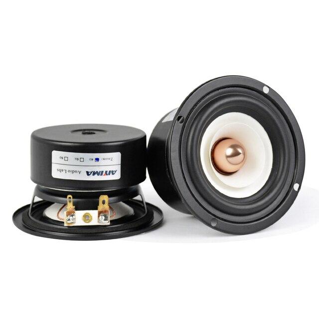 AIYIMA 2Pcs 3Inch Mini Audio Portable Speakers 4Ohm 8Ohm 15W Full Range Hifi Bass Speaker Altavoz Portatil Speaker DIY