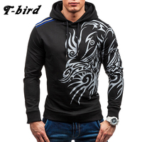 T Bird 2017 Hoodies Men Fashion 3D Printing Hoodie Male Hip Hop Sweatshirt Autumn Winter Cotton