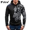 T Bird 2017 Hoodies Men Fashion 3D Printing Hoodie Male Hip Hop Sweatshirt Autumn Winter Cotton
