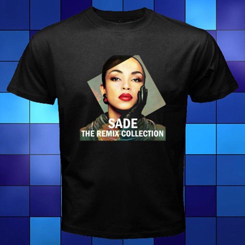 Новый SADE известный певец * Remix коллекция черная футболка Размеры S к 3XL печатных футболки Для мужчин; уличная