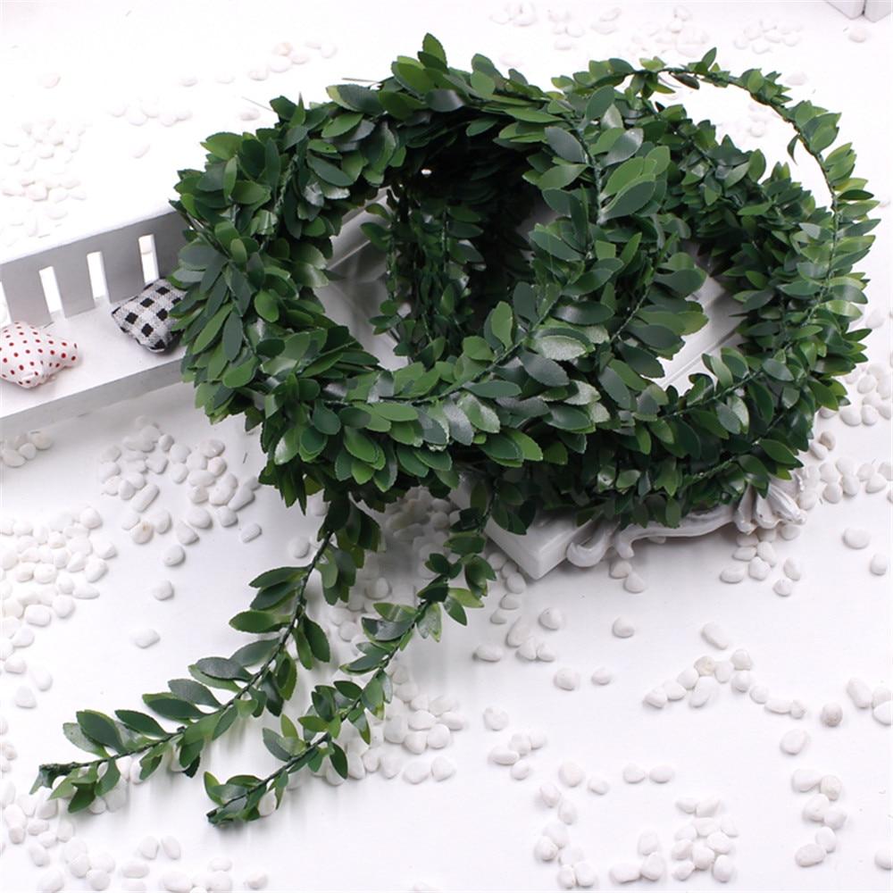 3,75 mt 150 zoll / pcs Seide Garland Green Leaf Eisendraht - Partyartikel und Dekoration