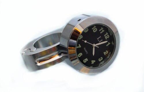 7/8- 1 Wholesale Chrome Motorcycle handlebar Clock for HARLEY  KAWASAKI 500 1600 SUZUKI C50 Yamaha V-star SPIRIT  VTX