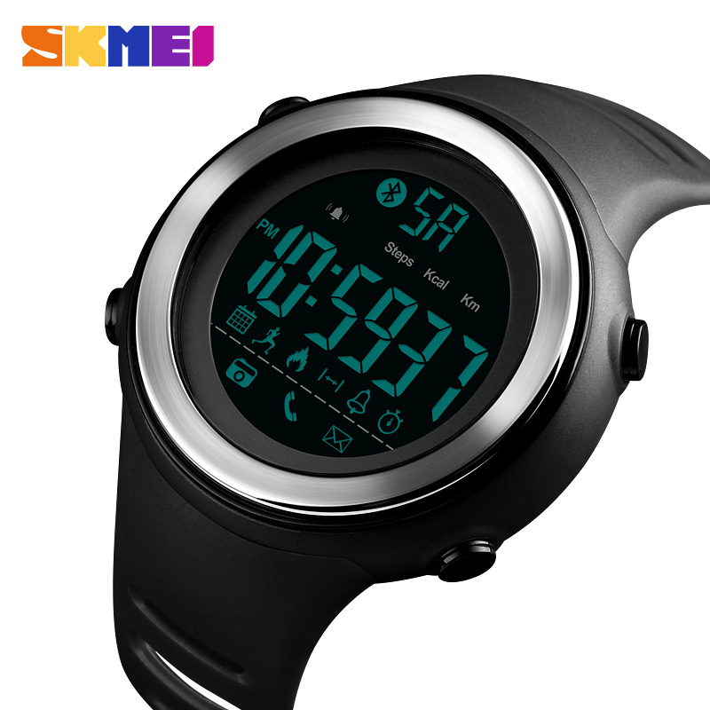 SKMEI Smart Watch Men Sport Watchs Pedometer Waterproof digital clock Sleep Monitor Data Calorie  Wristwatch Relogio MasculinoSKMEI Smart Watch Men Sport Watchs Pedometer Waterproof digital clock Sleep Monitor Data Calorie  Wristwatch Relogio Masculino