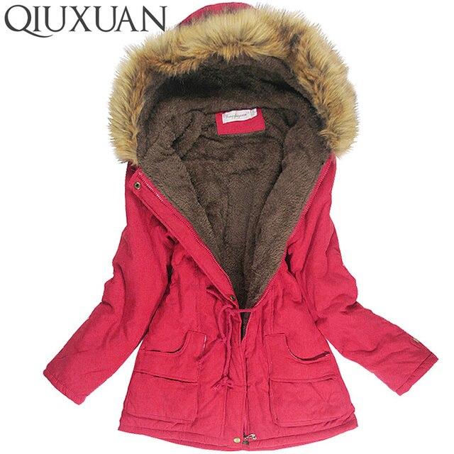 Winter Jacket Women Faux Fur Collar Womens Coats Long Down Parka ...