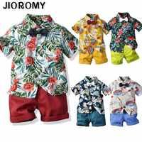Hot Sale 2019 Summer Style Children Clothing Sets Tops Shorts Belt 3 Pcs Set Boys Girls T Pants Sports Suit Kids Clothes