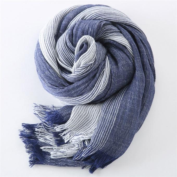 Новинка, брендовый зимний шарф для мужчин, теплый, мягкий, с кисточками, Bufandas Cachecol, серый, в клетку, тканый, мятой, хлопок, мужские шарфы - Цвет: navy