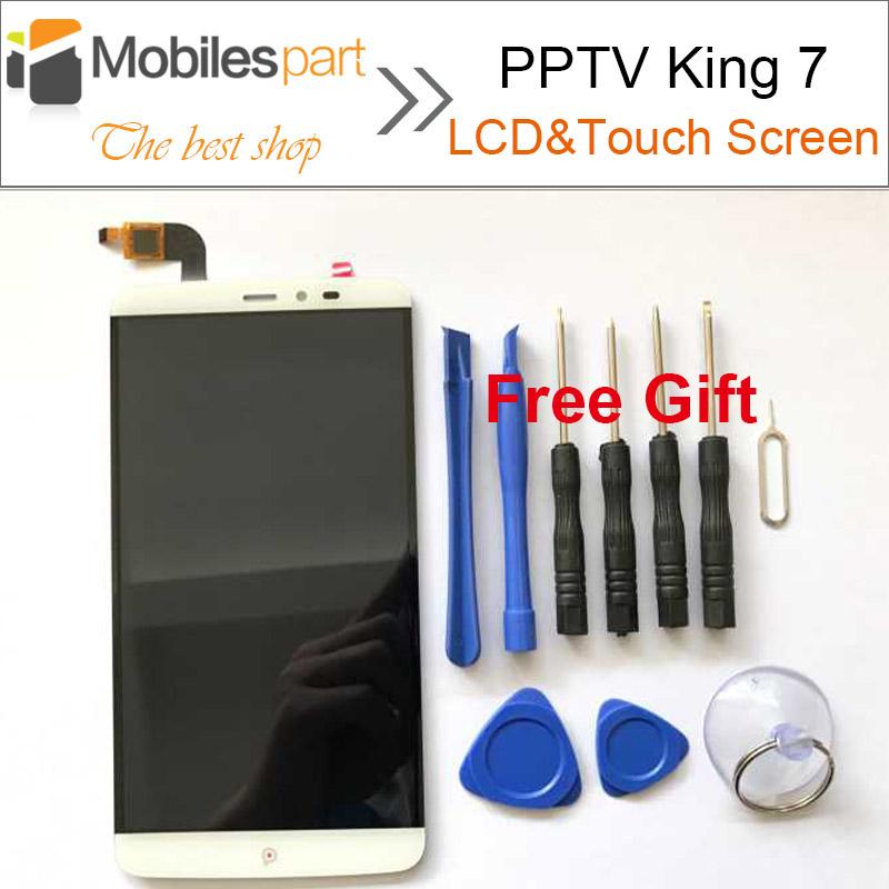 Prix pour Pptv roi 7 lcd écran 100% nouveau lcd de remplacement affichage + écran tactile pour pptv roi 7 2560x1440 2 k 6.0 pouce smartphone