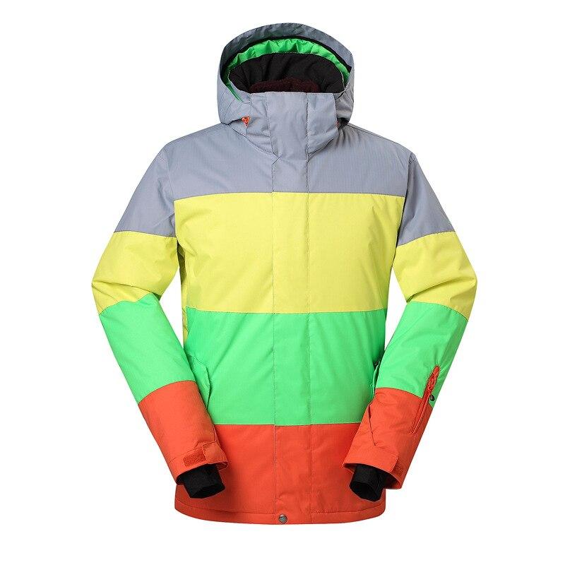GSOU SNOW veste de Ski homme simple planche Double planche veste de Ski extérieur résistant à l'usure chaud imperméable respirant manteau de Ski