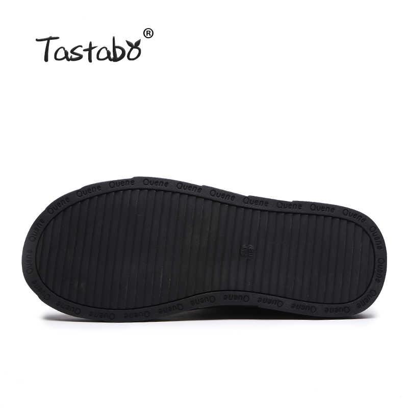 Tastabo siyah ayakkabı Kadın Retro Çizmeler El Yapımı yarım çizmeler Kadın Moda Yumuşak Süet Deri Martin Ayakkabı Düz