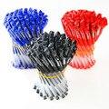 5 шт./лот, лидер продаж, практичная Классическая Стильная Пластиковая гелевая ручка 0,5 мм, сменная черная нейтральная ручка для офиса и школы - фото