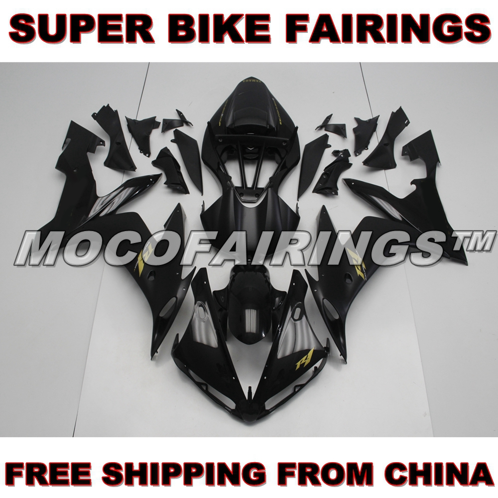 GLOSS BLACK ABS Motorbike Fairing Body Work For Yamaha YZF R1 2004-2006 2005 Injection Plastic Mold MATTE BLACK plastic tableware box injection mold makers