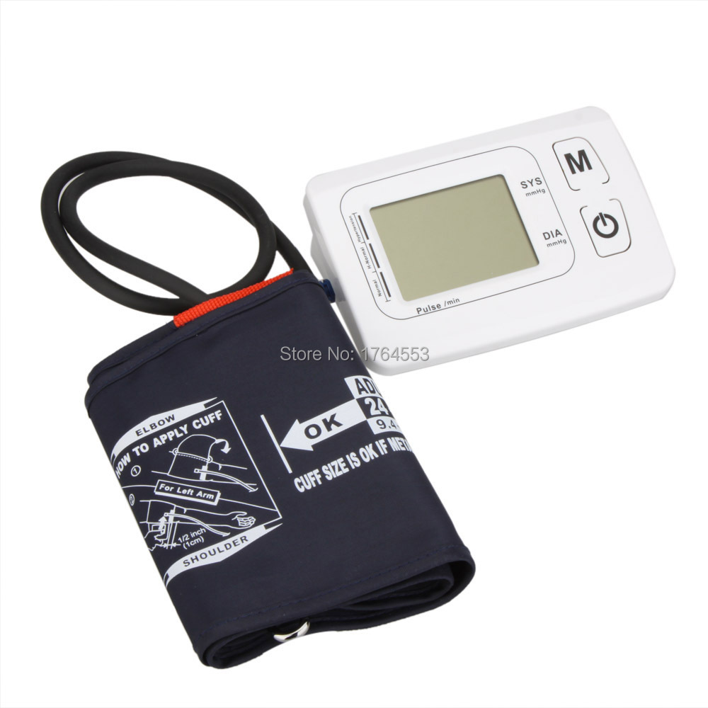 Health Experts BA-802 LCD Automatic Digital Arm Hematomanometer Arm Blood Pressure Monitor Heart Beat Pulse Meter Tester voice version digital lcd upper arm blood pressure monitor heart beat meter machine spygmomanometer portable home type free ship