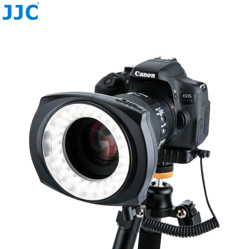 JJC Photography Camera LED Flash Left/Right Half Whole Video Speedlite Macro Ring Light for NIKON/CANON/SONY/PENTEX/Olympus