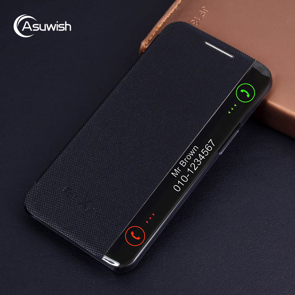 Luxury Leather Smart View Flip Case Cover For LG X Power LGX Xpower LGXpower K210 K220 K220DS K220DSZ K 220 DS Shockproof Funda image