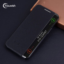 Luxury Leather Smart View Flip Case Cover For LG X Power LGX