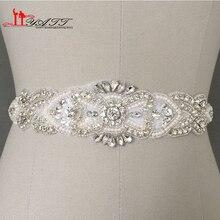 Створки кристаллы бисером искусственные невесты пояса ремни роскошные работы свадебные ручной