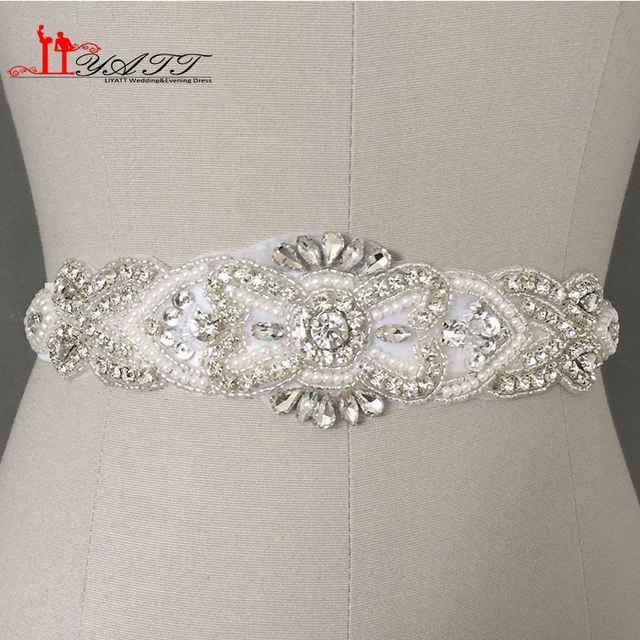 New Arrival Luxury Artificial Handmade Crystals Beading Belt for Bride Wedding Belts&Sash