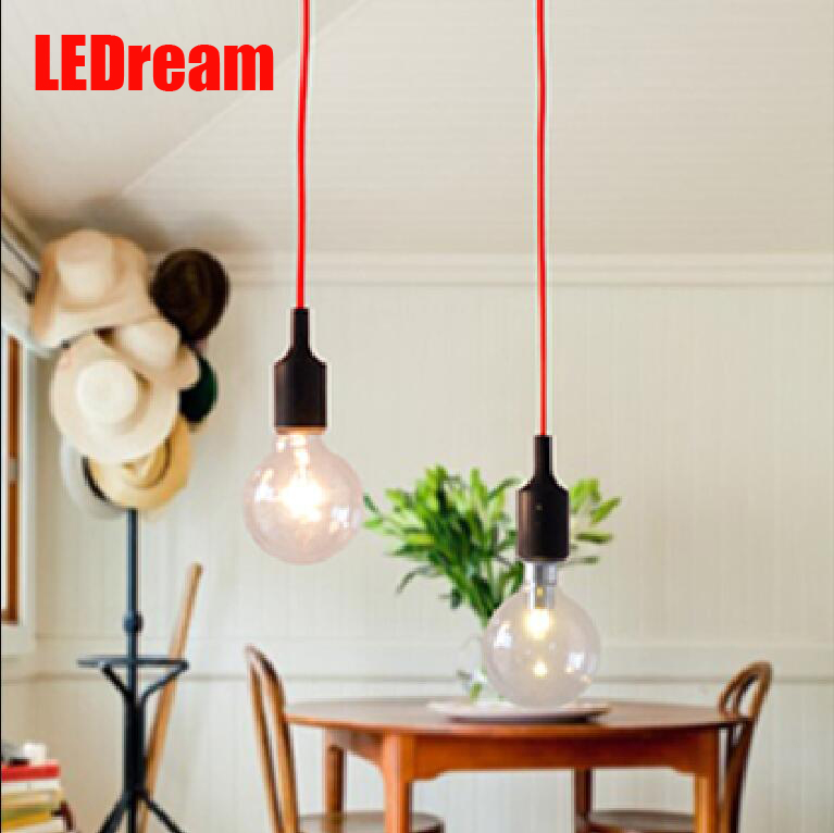 Contracted with a large light bulb creative color silicone droplight shops bar counter window lighting