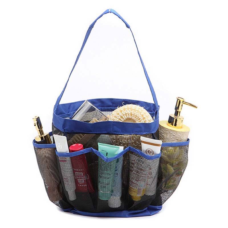 Wonderful Storage Bags Quick Dry Hanging Mesh Shower Tote Caddy Organizer Bath Bag  With 8 Pocket Perfect