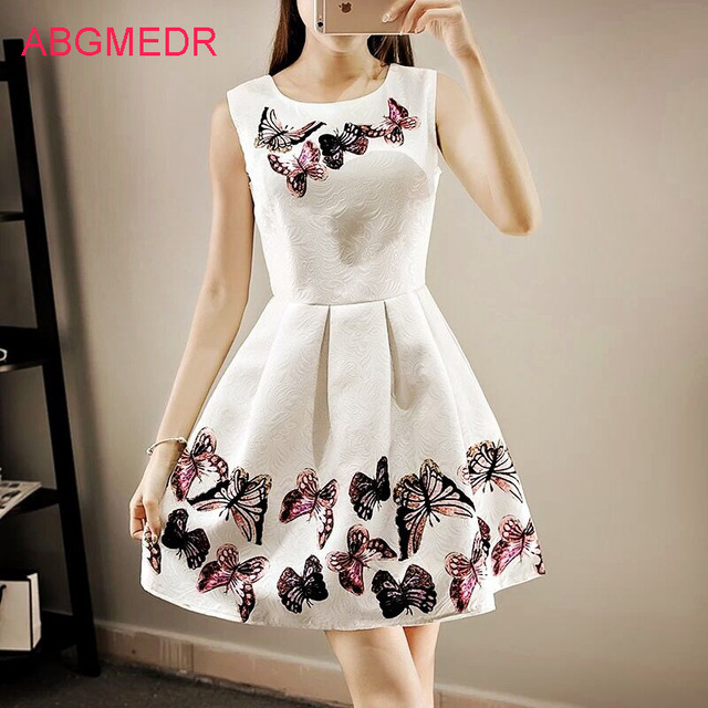 2017 summer baby girls dresses teenage girls dress kids