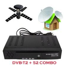 Azada venta Digital Satélite Receptor DVB T2 + S2 Sintonizador de TV Por Recibir DVB-T2 Receptor Sintonizador de TV MPEG4 Apoyo bisskey