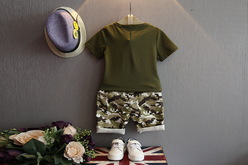 Summer Children Boy Clothes Sets Kids 2pcs Short Sleeves T-Shirt - Children's Clothing - Photo 3