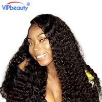 Vip bellezza Malese profonda ricci di remy dei capelli bundles 1 pz/lotto pacchi dei capelli umani di estensione dei capelli può comprare 3 o 4 fasci