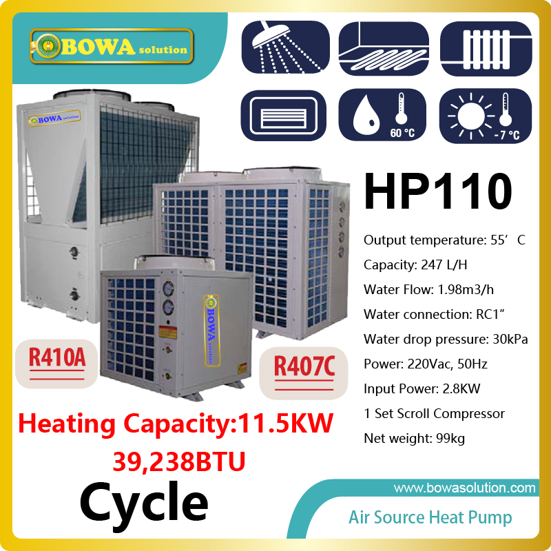 40,000BTU/11.5KW cycle type air source heat pump water heater for floor heating, please check with us about shipping costs 6162 63 1015 sa6d170e 6d170 engine water pump for komatsu