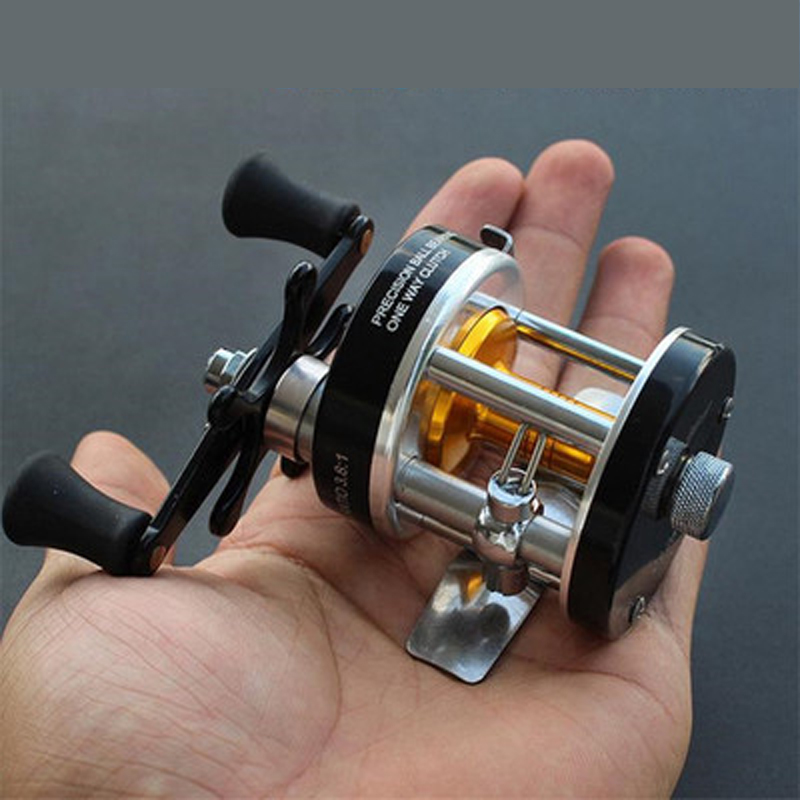 цена на Fishing Reels Full Metal Right Left Hand Bait Casting Fishing Reel 3.8:1 with Counter High-strength Body Cast Drum Wheel Peche