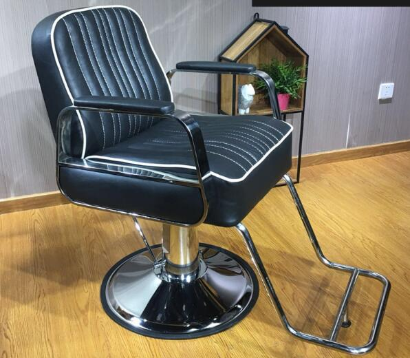 Hairdressing Chair Salon Hairdressing Chair Factory Chair High-end Black Stainless Steel Hair Chair. hair salon barber chair hairdressing chair put down the barber chair
