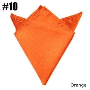 (Оранжевый) мягкий однотонный Карманный платок популярный атласный платок для костюма