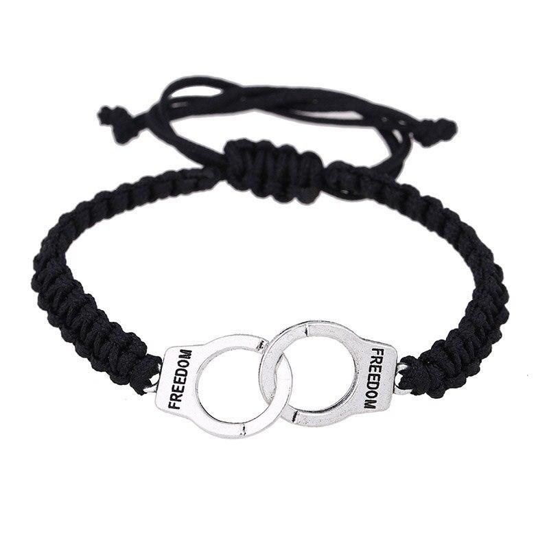 Adjustable Vintage Handmade Bracelet Men Jewelry Handcuffs Charm Bracelet for Women Accessories Friendship Girl Couple Bracelets 15