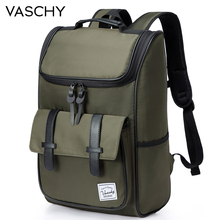 VASCHY Backpack for Men  School Bags Backpack College High School Bags Travel Bag Laptop Backpack bookbag  Women backpack fengdong men usb port backpack waterproof male chest bag set college bags one shoulder travel backpack high school bags for boys