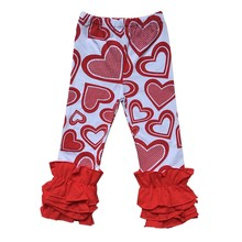 fac7a5a50e0e84 Valentine's spring easter Wholesale Price Baby Girl Icing Leggings Flower  Printed Ruffle Pants For Children Boutique