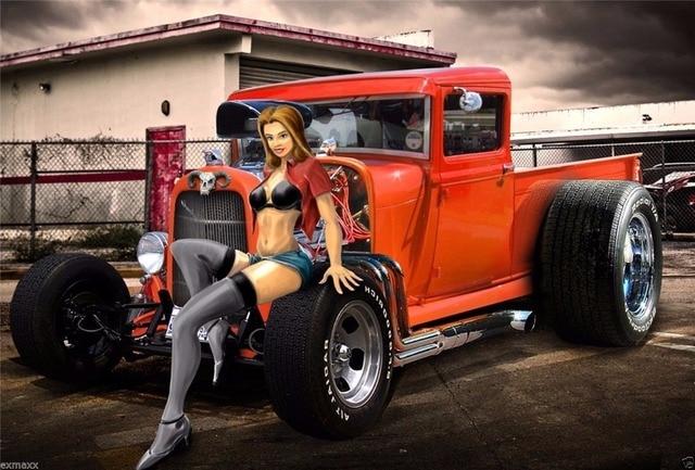 Hot Rod Custom Roadsters Classic Spier Cars Zijde Poster Art ...